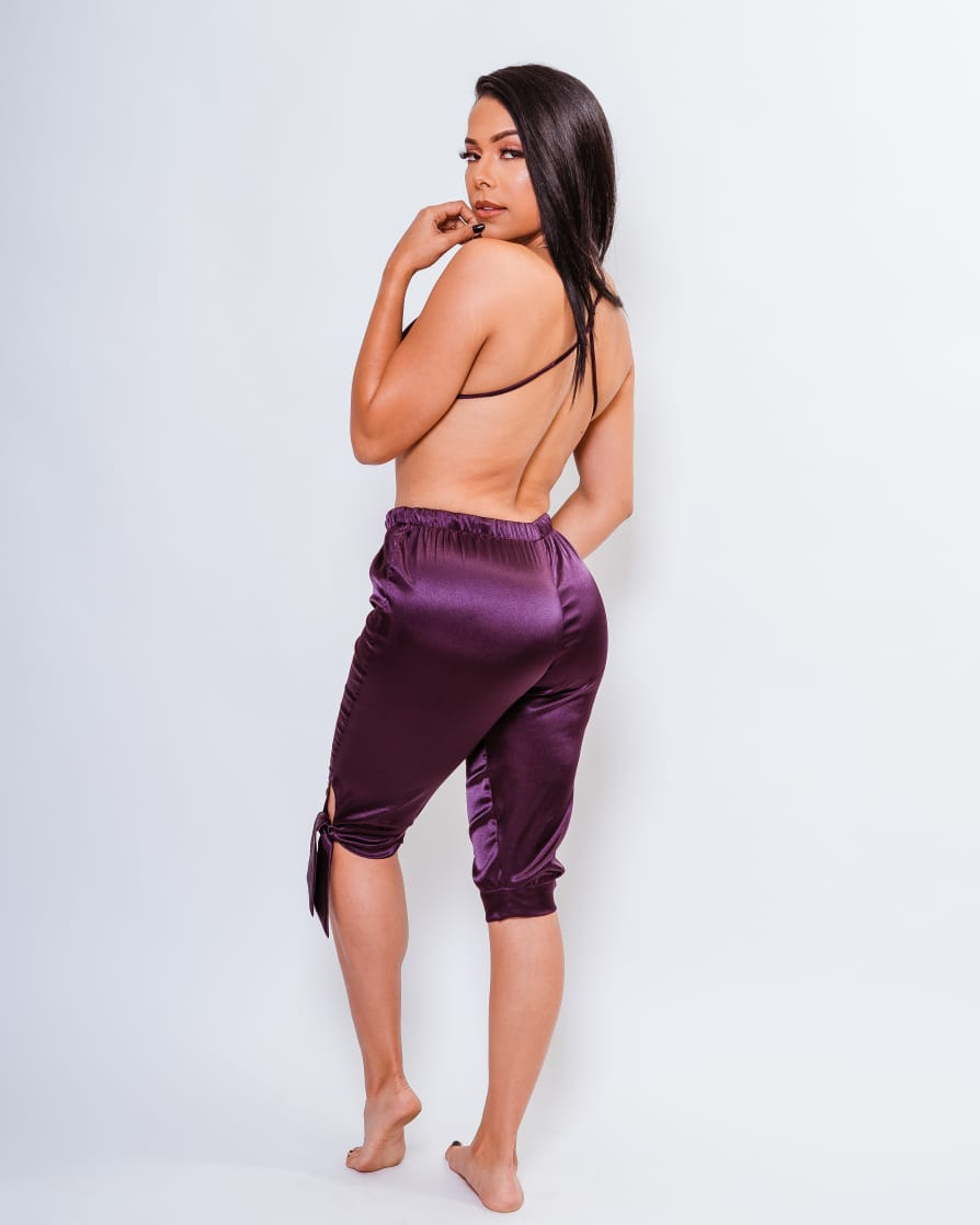 Satin Capri Pants, Satin Bralette